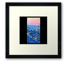 """""""Walking With You. (Lido Beach, Florida)"""" Framed Print"""