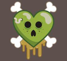 Rotten Heart and Crossbones Graphic Tee by BeataViscera