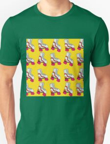 Yellow Roller Blade Pattern Unisex T-Shirt