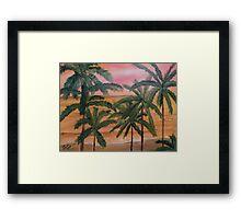 Beautiful Sunset on a Small South Florida Beach Framed Print