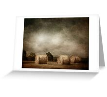 hay rolls on a sunday afternoon Greeting Card