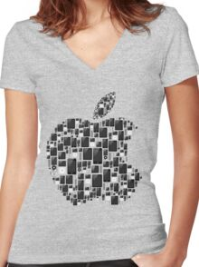 APPLE - IPAD IPHONE IPOD TOUCH Women's Fitted V-Neck T-Shirt