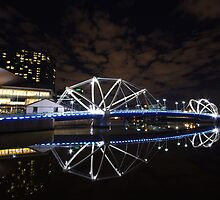 Echo - Reflection in twilight - South Wharf Bridge [Melbourne] by Robin Puc