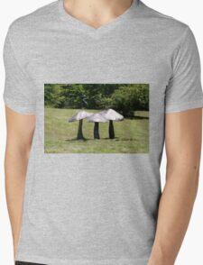 Mushroom Sculpture Mens V-Neck T-Shirt
