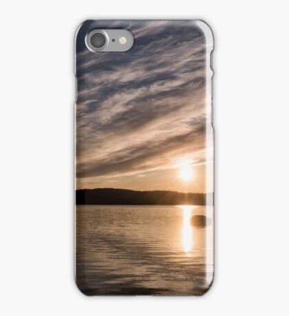 Menesjärvi at Midnight iPhone Case/Skin