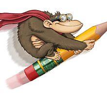 Pencil Rocket Gorilla by joemruiz