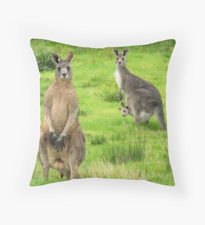 soggy kangaroos Throw Pillow