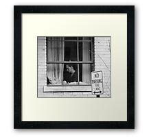 """Dining Alone"" Framed Print"