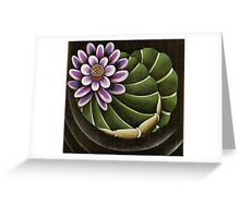 Lotus Lilly Floating in Pond Greeting Card