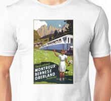 Switzerland Vintage Travel Poster Restored Unisex T-Shirt