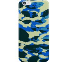 Abstract Army Pattern in Black Blue iPhone Case/Skin