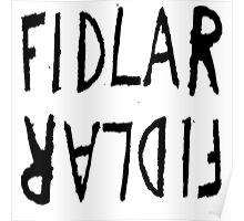 Fidlar logo white Poster