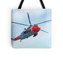 Royal Navy Sea King Rescue Helicopter Tote Bag