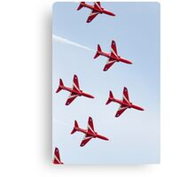 RAF Red Arrows Aerobatics Display Team Canvas Print