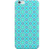 Elegant Blue Teal Abstract Modern Foliage Leaves iPhone Case/Skin