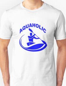 Aquaholic kayak guy classic round geek funny nerd T-Shirt