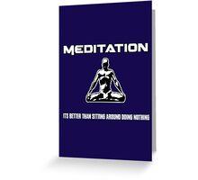 Meditation.  Greeting Card