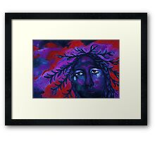 Mother Watching All - Crimson & Violet Compassion  Framed Print