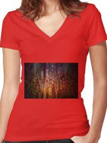 Metropolis Women's Fitted V-Neck T-Shirt
