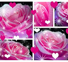 Pink Roses & Collage. by Vitta