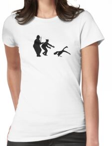 The Swan's Escaped Womens Fitted T-Shirt