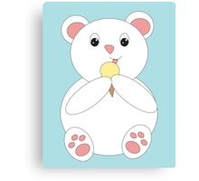 Polar Bear Eating Ice Cream Canvas Print