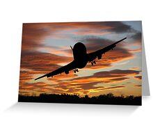 Plane Speaking Greeting Card