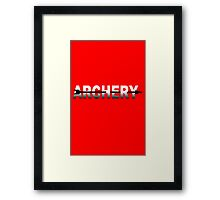 Archery gifts for bow and arrow geek funny nerd Framed Print
