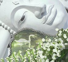 In the Garden - Quan Yin in White by Diane Clancy
