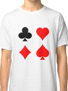 Blackjack poker card suits vector art geek funny nerd Classic T-Shirt