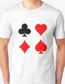 Blackjack poker card suits vector art geek funny nerd T-Shirt
