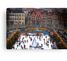 Winter Skaters Canvas Print