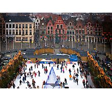 Winter Skaters Photographic Print
