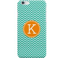 Monogram Letter K with Bright Chevrons iPhone Case/Skin