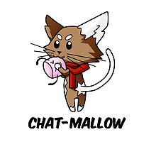 Chat-Mallow - Marshmallow in french by ChokoChoko