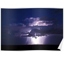Exploding Clouds Poster