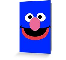 Grover face art geek funny nerd Greeting Card