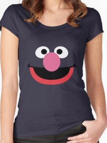 Grover face art geek funny nerd Women's Fitted Scoop T-Shirt