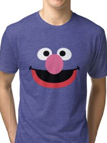 Grover face art geek funny nerd Tri-blend T-Shirt