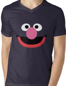 Grover face art geek funny nerd Mens V-Neck T-Shirt