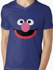 Grover face art geek funny nerd Mens V-Neck T-Shirt