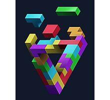 Penrose Tetris Photographic Print