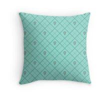 Mark of Mastery Argyle - Teal Throw Pillow