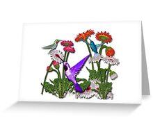 Humingbird Flower Garden Party Greeting Card