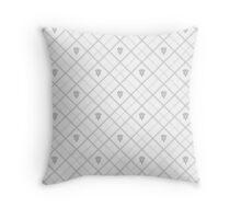 Mark of Mastery Argyle - White Throw Pillow