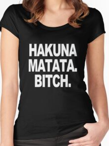 Hakuna matata sweater geek funny nerd Women's Fitted Scoop T-Shirt