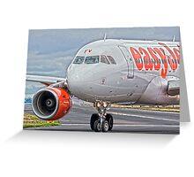 easyJet Airbus 319 Greeting Card