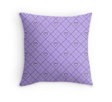 Kingdom Hearts Argyle - Lavender Throw Pillow