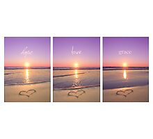 Hope Love Grace Photographic Print