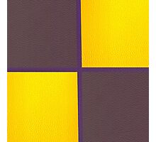 Purple and Yellow Leather patchwork  Photographic Print